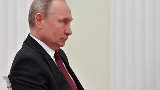الرئيس الروسي فلاديمير بوتين خلال اجتماع في موسكو