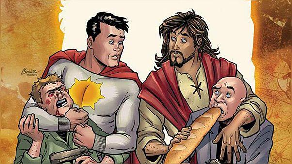 """مؤسسة """"دي سي كوميكس"""" تلغي إصدار كتاب مصور يظهر المسيح مساعدا لبطل خارق"""