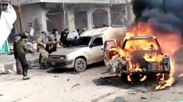 دهها کشته و زخمی در حملات جداگانه در عفرین و دیرالزور سوریه