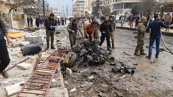 الانفجار الذي وقع في عفرين