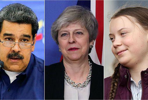 Nicolás Maduro, Theresa May and Greta Thunberg
