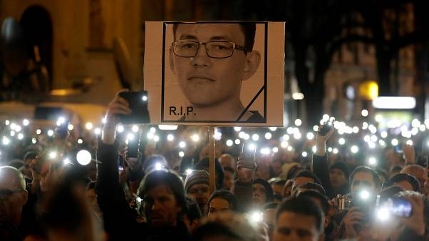 Slovaks remember slayed journalist Jan Kuciak and renew justice calls
