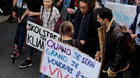 Diákok tüntettek a klímaváltozás ellen Párizsban