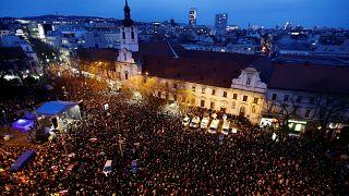 """""""Für eine anständige Slowakei"""": Massenproteste am 1. Jahrestag des Kuciak-Mordes"""