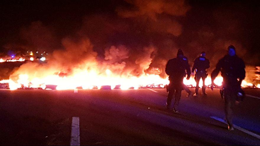Manifestação independentista na Catalunha incluiu bloqueios de estrada
