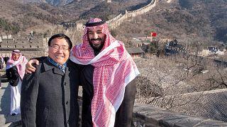 ولي العهد السعودي أثناء زيارته للصين