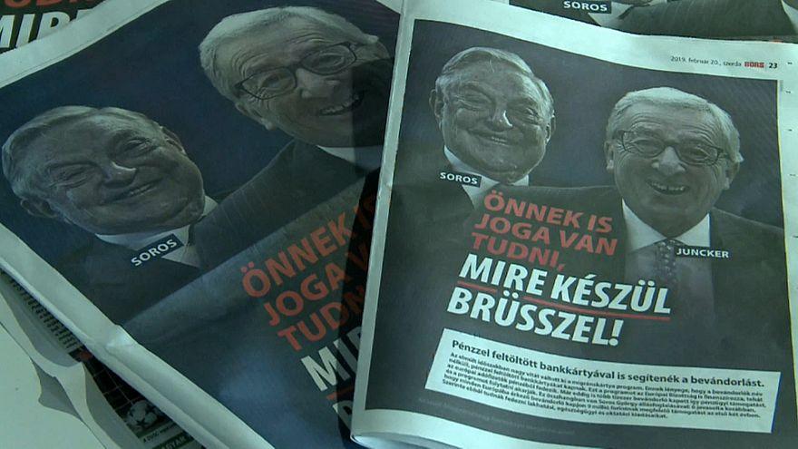 Ungarische Plakate: Kritik von CDU/CSU