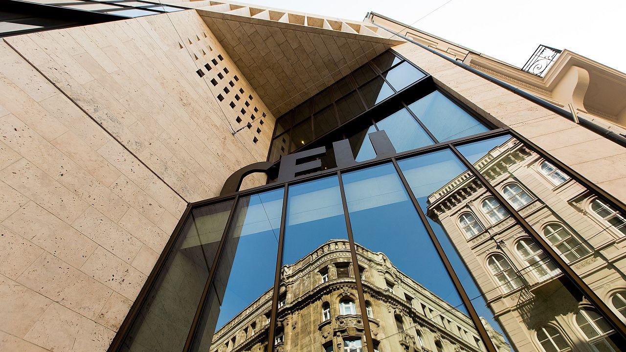 The front facade of CEU's N15 building
