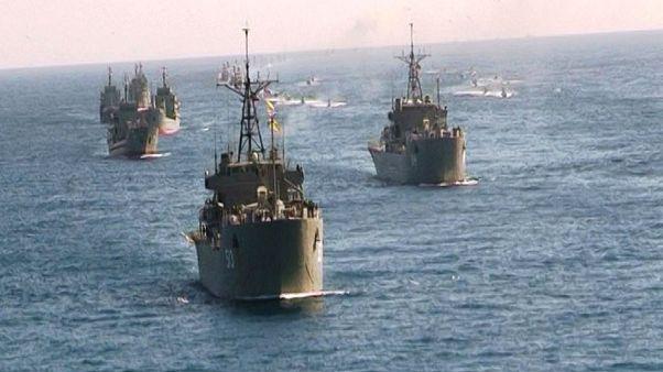 آغاز رزمایش دریایی ارتش ایران در دریای عمان