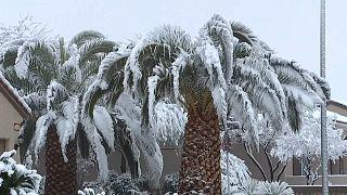 بارش برف بیسابقه در لاس وگاس