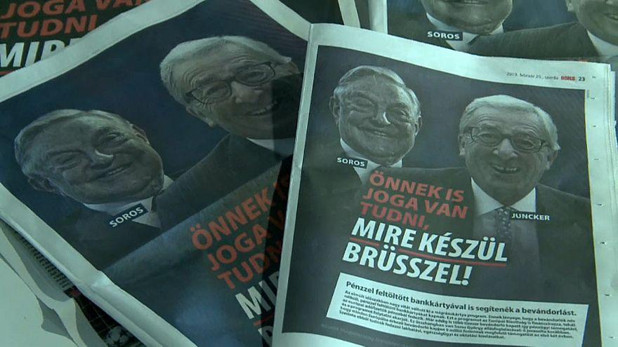 Polémica campaña del Gobierno húngaro contra la UE y Juncker