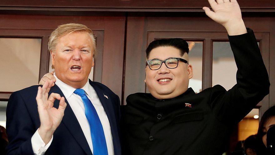 Donald Trump and Kim Jong-un impersonators take centre stage in Hanoi
