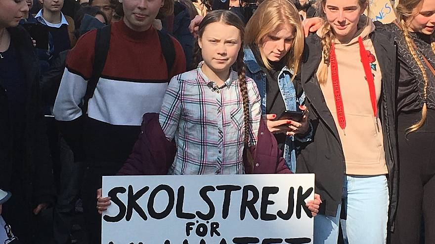 Greta Thunberg at Friday's climate march in Paris.