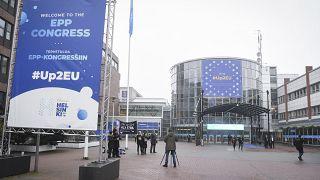 Az EPP-kongresszus helyszíne Helsinkiben, 2018. november 7-én