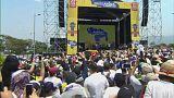 """""""Batalha musical"""" entre regime venezuelano e oposição"""