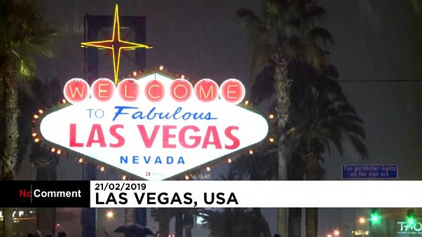 Il a neigé sur Las Vegas