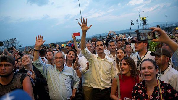 """Juan Guaidó na Colômbia para assistir ao concerto """"Venezuela Live Aid"""""""