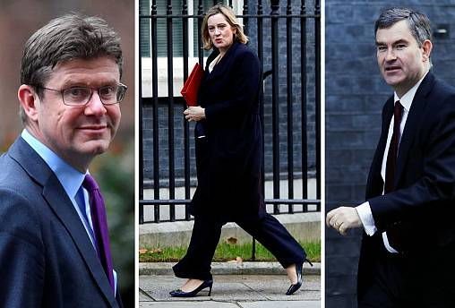 Greg Clark, Amber Rudd and David Gauke.