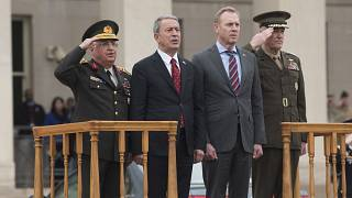 وزير الدفاع التركي والقائم بأعمال وزير الدفاع الأميركي في البنتاغون