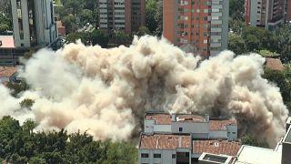 The demolition of Pablo Escobar's former home