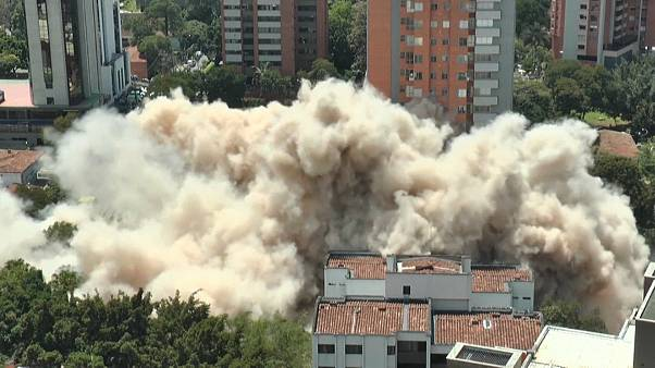The demolition of Pablo Escobar's former home
