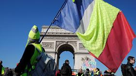 """Thousands march across France for the Gilets Jaunes' """"Act XV"""""""
