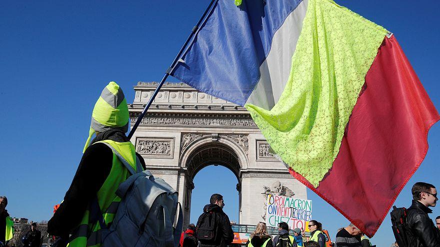 """Les """"gilets jaunes"""" toujours mobilisés pour l'Acte XV"""