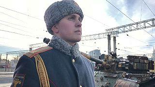 Russia, treno-museo itinerante con le armi sequestrate in Siria