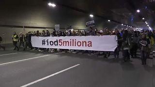 Антиправительственный протест в Белграде
