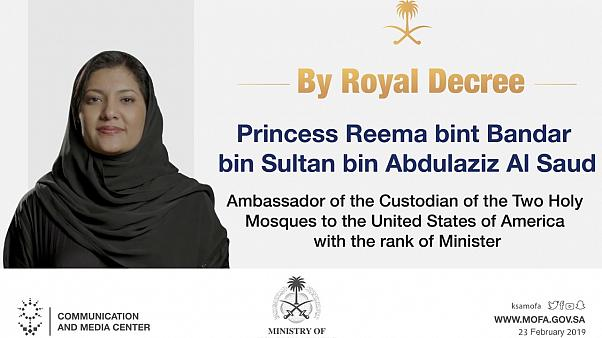 Saudi Arabia appoints Princess Reema as ambassador to the US.