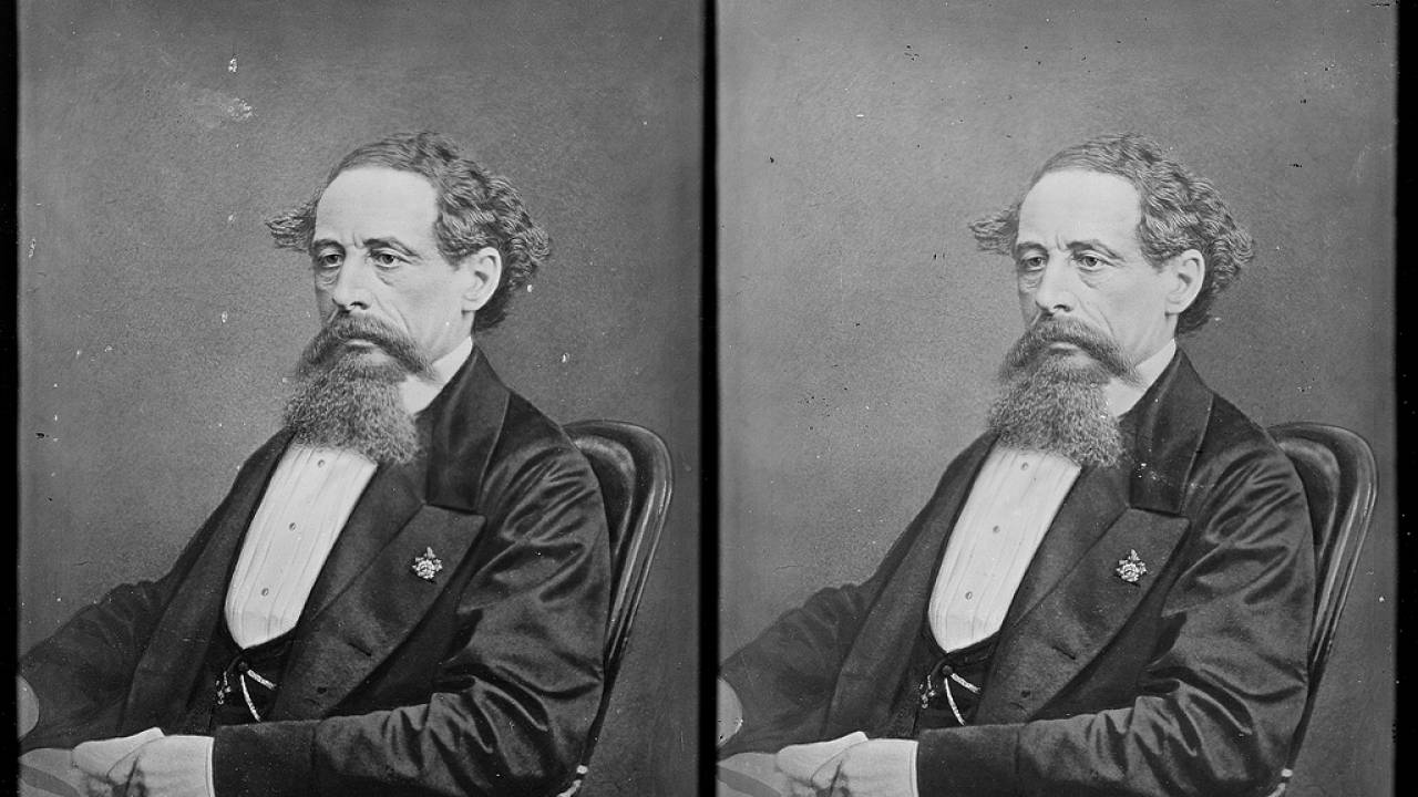 Charles Dickens, taken circa 1863.