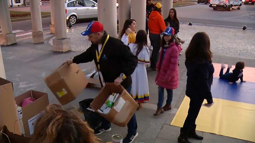 Portugal: Freiwillige sammeln Hilfsgüter für Venezuela