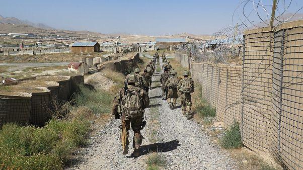 U.S. military advisers in Maidan Wardak province, Afghanistan, Aug 6, 2018.