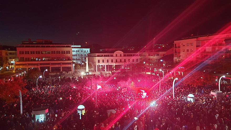Thousands march in Montenegro to end president's 30-year rule in third protest this month