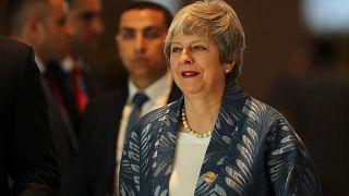 British PM Theresa May in Sharm el-Sheikh, Egypt, February 24, 2019