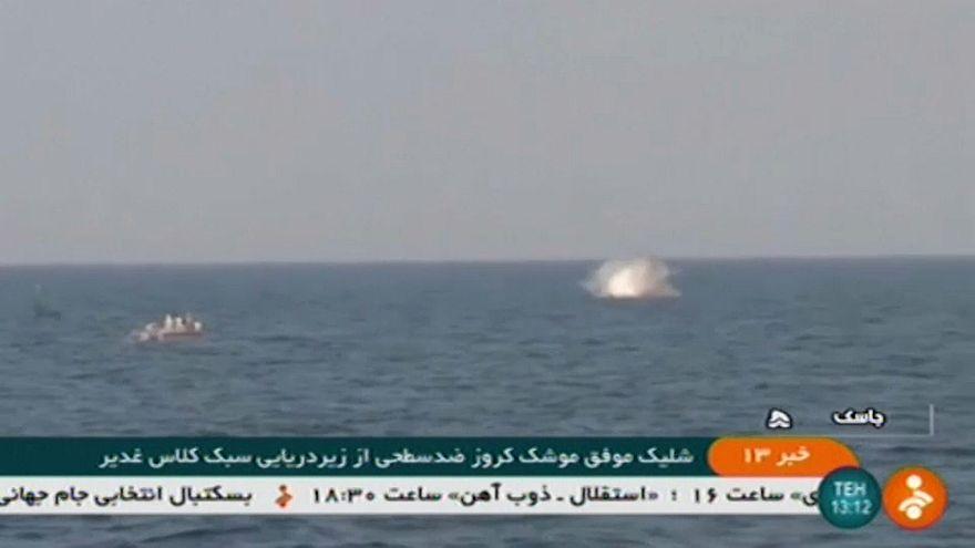 Запуск крылатой ракеты с подводной лодки