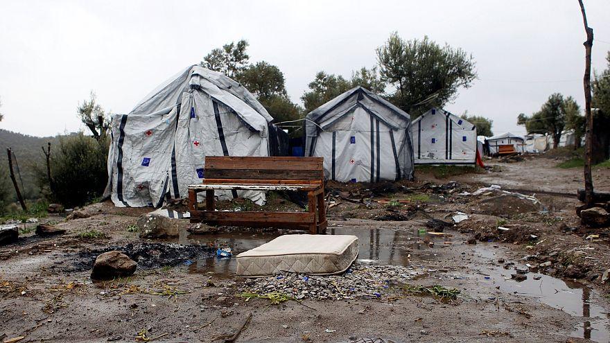 Camps de réfugiés de Moria, sur l'île de Lesbos