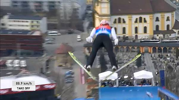 Germany destroys competition in ski-jumping