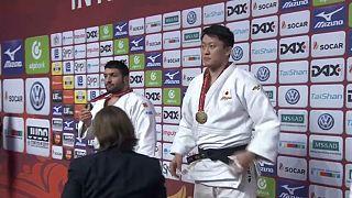 جودو؛ هیسایوشی هاراساوا طلای سنگین ترین وزن گرند اسلم دوسلدورف را به گردن انداخت