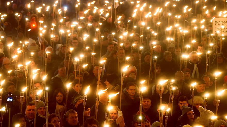 Estonian far right marches through Tallinn on Independence Day