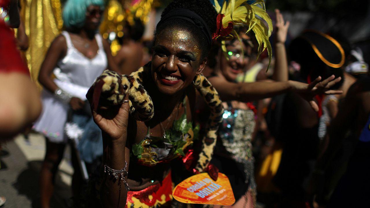 """Desfile """"Cordão Boitatá"""", no Rio de Janeiro"""