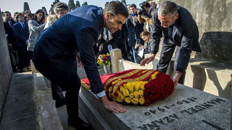 Hommage de Pedro Sanchez au Président républicain espagnol Manuel Azana