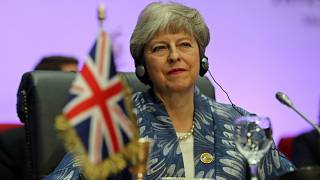 Theresa May goes from Dancing Queen to pool shark with Italy's Conte