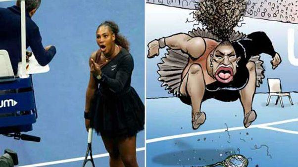 Ünlü tenisçi Serena Williams'ın iri dudaklı karikatürü ırkçı bulunmadı