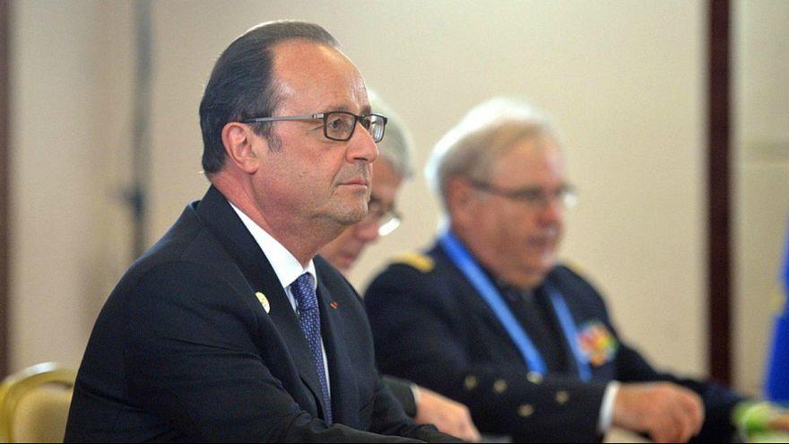فرانسوا اولاند با کاروان امنیتی وارد کردستان عراق شد