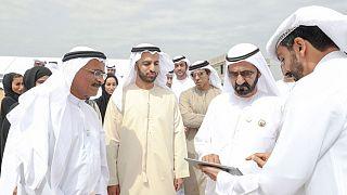 الشيخ محمد بن راشد خلال الجولة