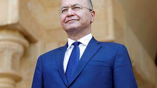 الرئيس العراقي يبحث في فرنسا مصير مقاتلي داعش وسبل الدعم لبلاده