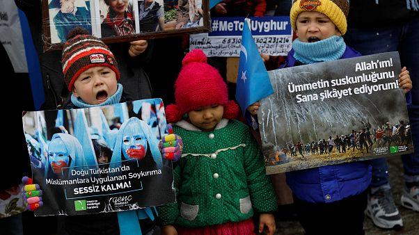 مظاهرات للويغور في تركيا ضد انتهاكات الصين