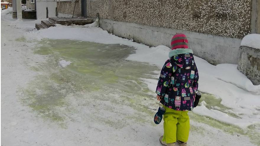Sightings of green snow concerns residents of Russian city