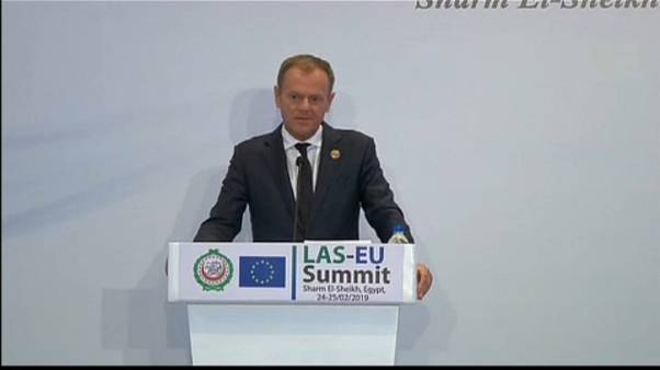 Donald Tusk urges 'common commitment' to upholding human rights at summit in Egypt
